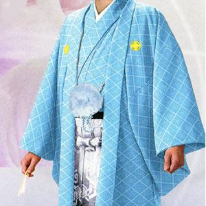 商品No.no_123 紋付袴レンタル ブルーメイン画像
