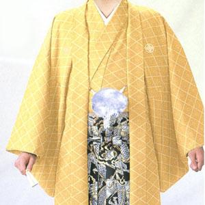 商品No.no_124 紋付袴レンタル 黄メイン画像