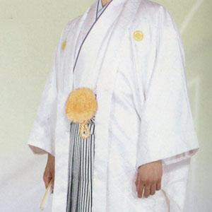 商品No.no_125 紋付袴レンタル 白メイン画像
