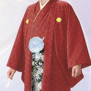 商品No.no_127 紋付袴レンタル 赤メイン画像