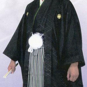商品No.no_129 紋付袴レンタル 黒メイン画像