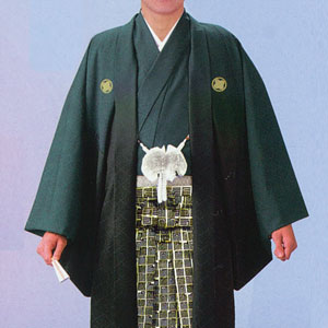 商品No.no_135 紋付袴レンタル 緑ボカシメイン画像